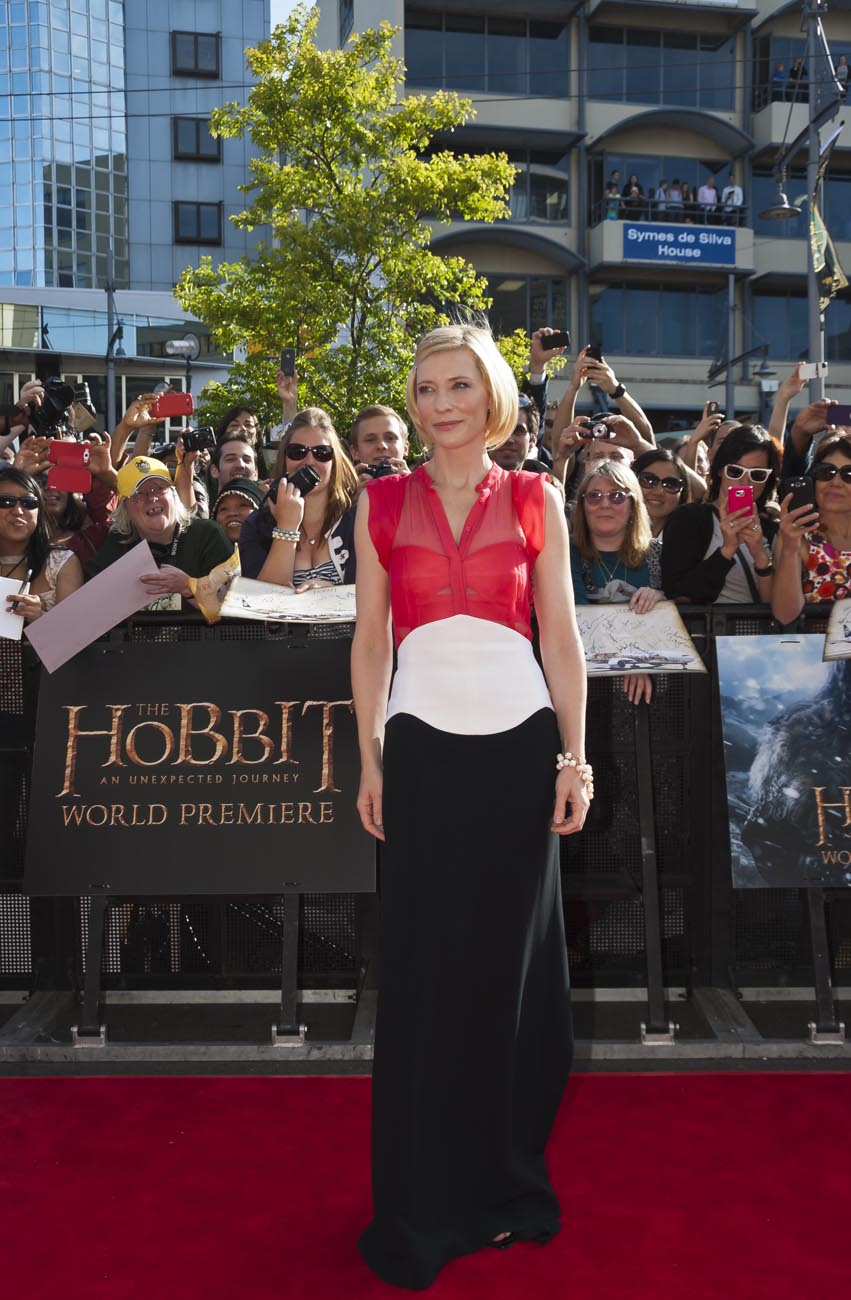 Cate Blanchett Hobbit Star World Premiere Event Photo Wellington NZ Photographer Kevin Hawkins