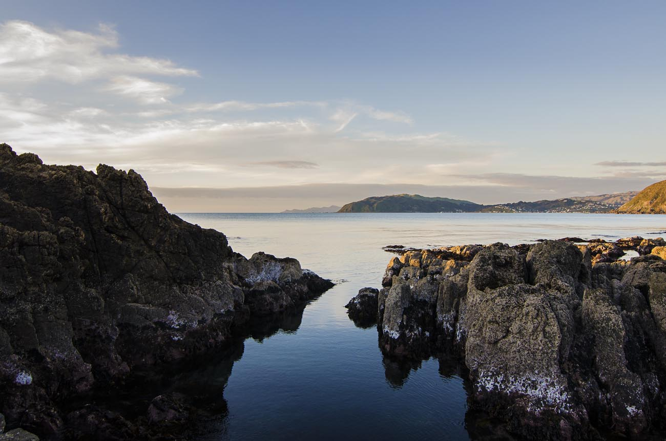 Kapiti Island from Titahi Bay Wellington NZ Landscape Photographer Kevin Hawkins