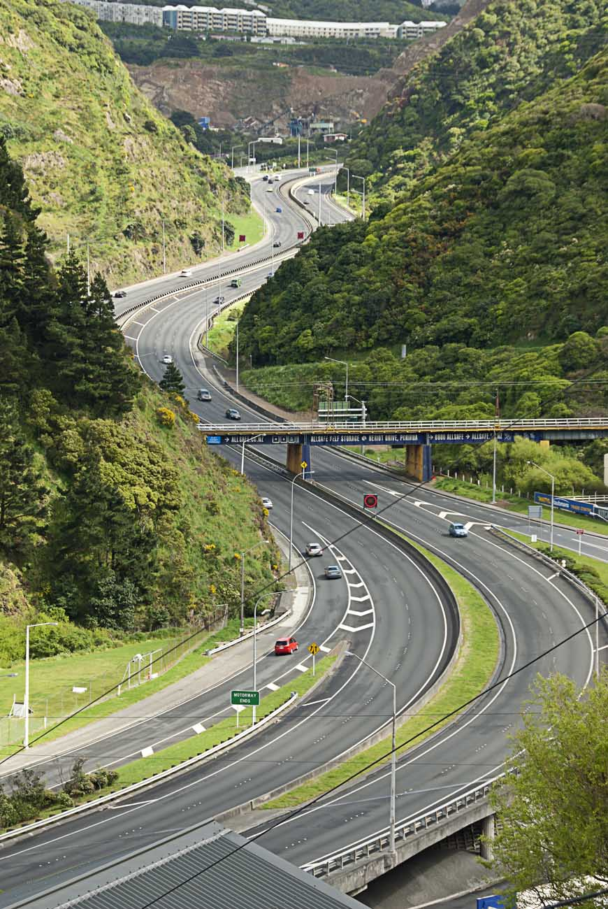 Wellington NZ Landscape Photographer Kevin Hawkins Ngauranga Gorge Stock Photo