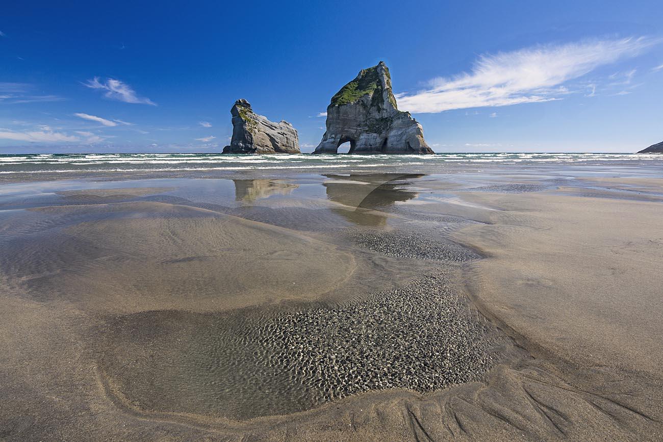 Wharariki Beach Archway Islands Stock Photo Wellington-NZ-Landscape-Photographer Kevin Hawkins