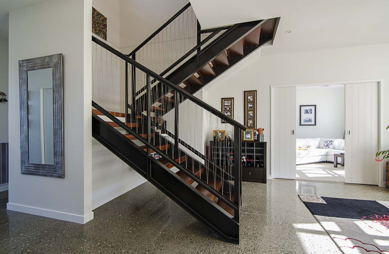 Whitby House Interior Staircase Wellington-NZ Photographer-Kevin-Hawkins