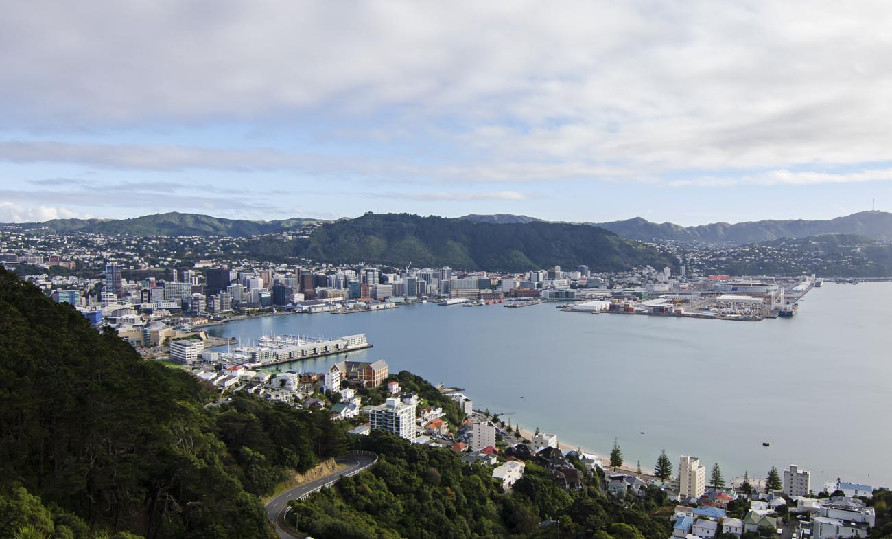 Wellington Harbour CBD Stock Photo Wellington NZ Landscape Photographer Kevin Hawkins