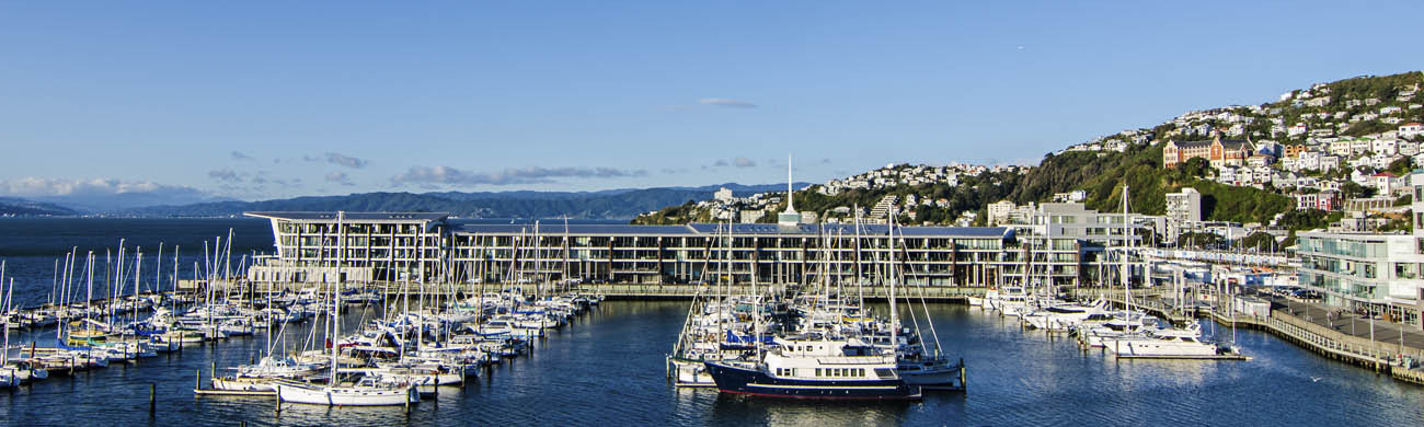 Wellington NZ Landscape Photographer Kevin Hawkins Clyde Quay Apartments Stock Photo