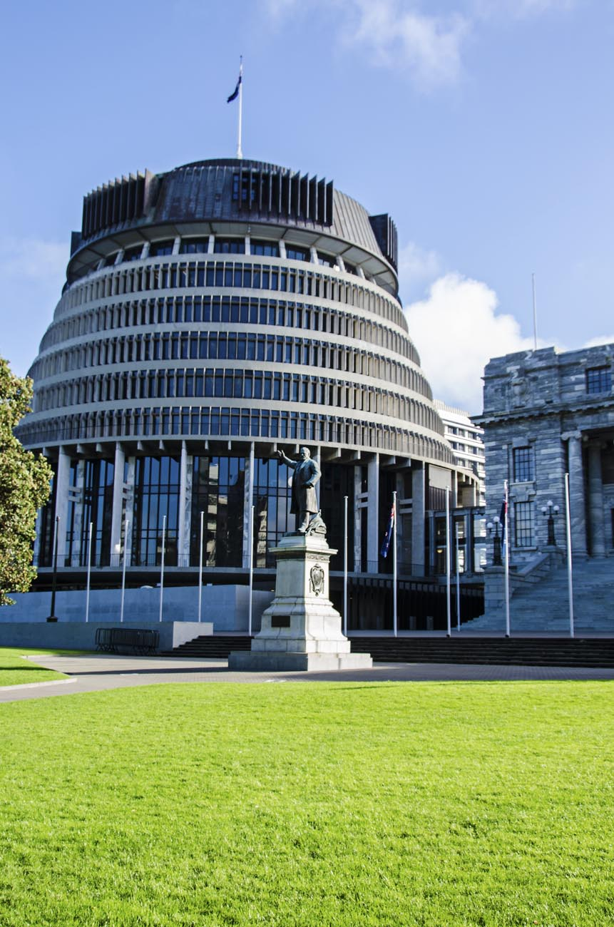 Beehive Parliament Wellington NZ Landscape Photographer Kevin Hawkins
